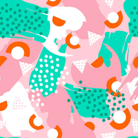 Colorful Abstract Seamless Pattern for Printing, Website ,Fabric , Cards etc. : Vector Illustration