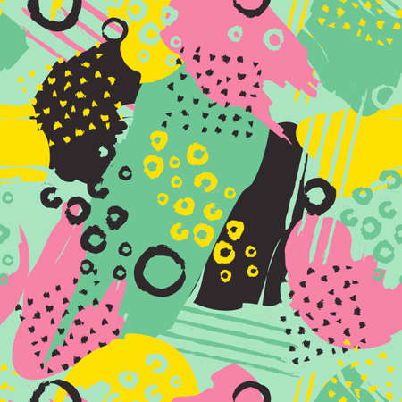 Colorful Abstract Seamless Pattern Vector Illustration.