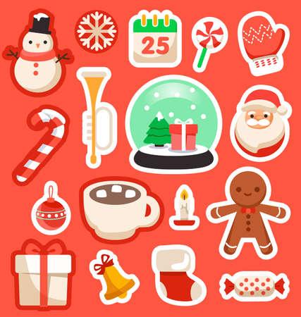 Frohe Weihnachten Elemente : Vektor-Illustration Vektorgrafik