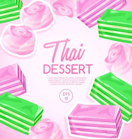 Thai Dessert : Vector Illustration Иллюстрация