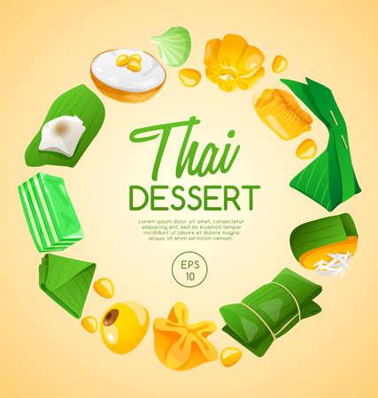 Thai Dessert : Vector Illustration Illustration