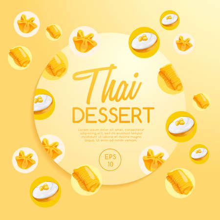 Thai Dessert : Vector Illustration Illustration