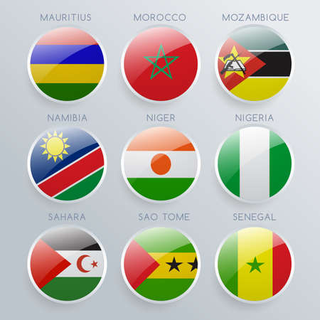 World Flag Icon Set : Vector Illustration 일러스트