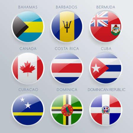 World Flag Icon Set : Vector Illustration Illustration