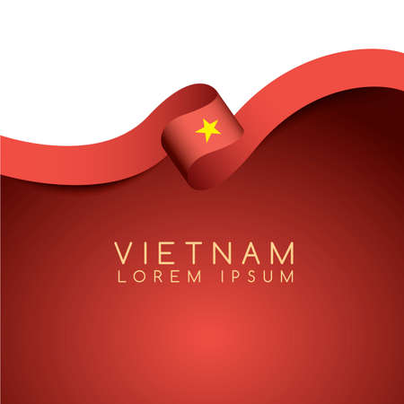 Vietnam Flag Ribbon : Vector Illustration 矢量图像