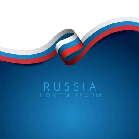 Russia Flag Ribbon : Vector Illustration Banco de Imagens - 101525348