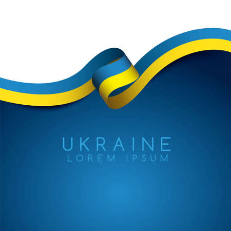 Ukraine Flag Ribbon : Vector Illustration Banco de Imagens - 101525394
