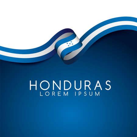 Honduras Flag Ribbon : Vector Illustration