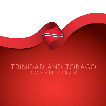 Trinidad and tobago Flag Ribbon : Vector Illustration