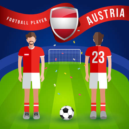 World Soccer Player : Vector Illustration Illusztráció