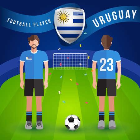World Soccer Player : Vector Illustration  イラスト・ベクター素材