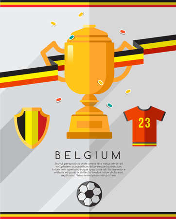 Football Championship Flat Icon : Vector Illustration