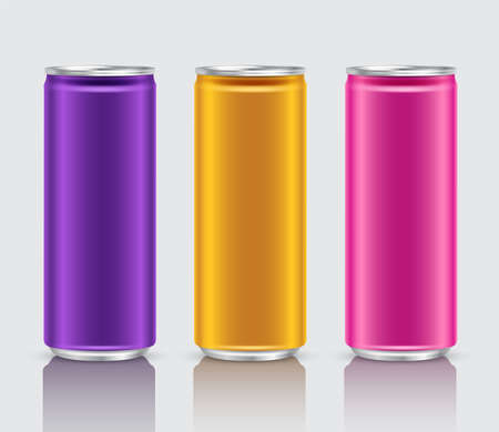 Aluminum Can Template on White Background : Vector Illustration