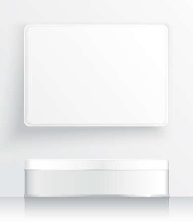 Tin Box Vorlage: Vector Illustration