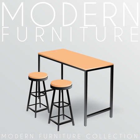Modern Furniture Collection : Vector Illustration