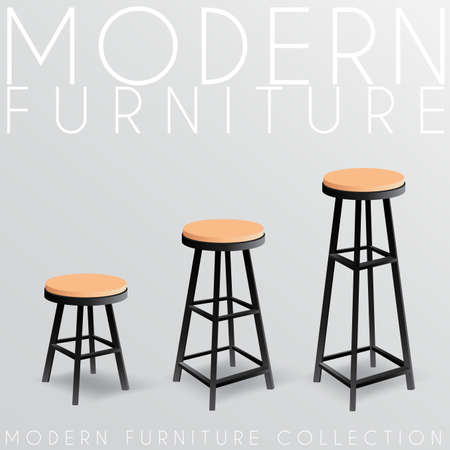 Modern Furniture Collection : Vector Illustration Illusztráció