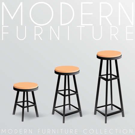 Moderne meubelcollectie: vectorillustratie
