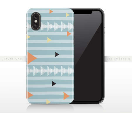 Abstract Pastel Pattern On Phone Case Template : Vector Illustration