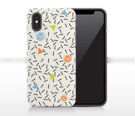 Abstract Pattern On Phone Case Template : Vector Illustration