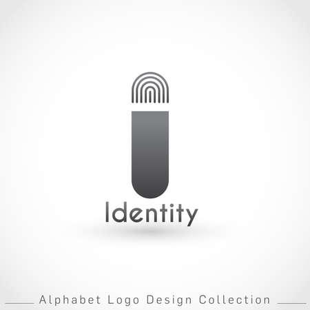 Letter I Logo Design Template isolated on white background : Vector Illustration