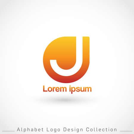 Letter J Logo Design Template isolated on white background : Vector Illustration