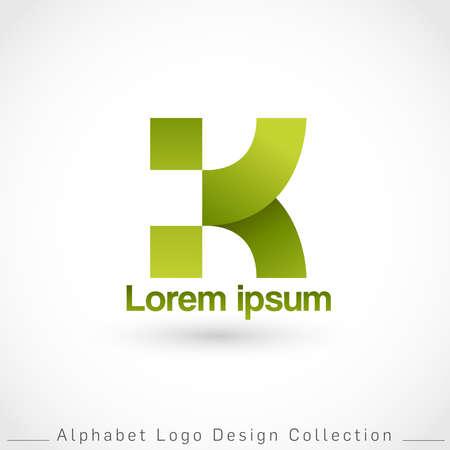 Letter K Logo Design Template isolated on white background : Vector Illustration