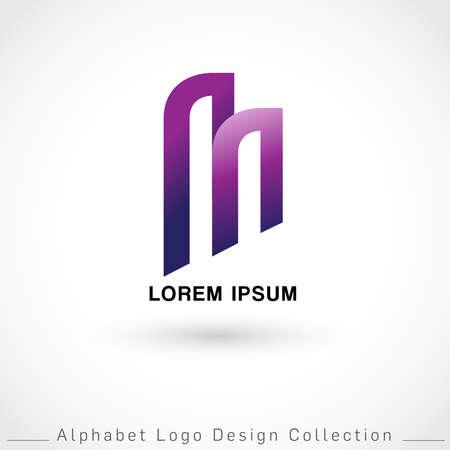 Letter M Logo Design Template isolated on white background : Vector Illustration