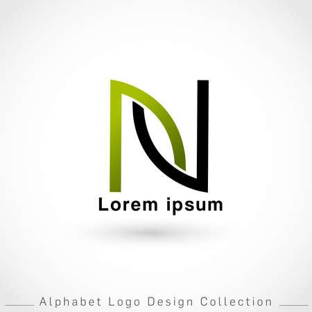 Letter N Logo Design Template isolated on white background : Vector Illustration