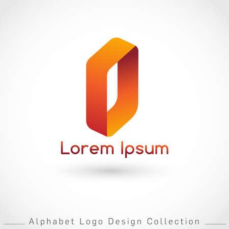 Letter O Logo Design Template isolated on white background : Vector Illustration Иллюстрация