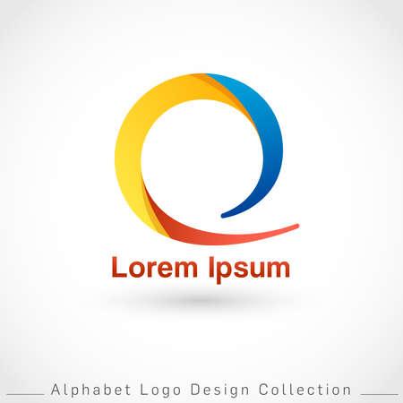 Letter Q Logo Design Template isolated on white background : Vector Illustration Иллюстрация