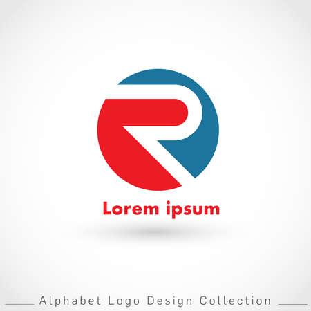 Letter R Logo Design Template isolated on white background : Vector Illustration
