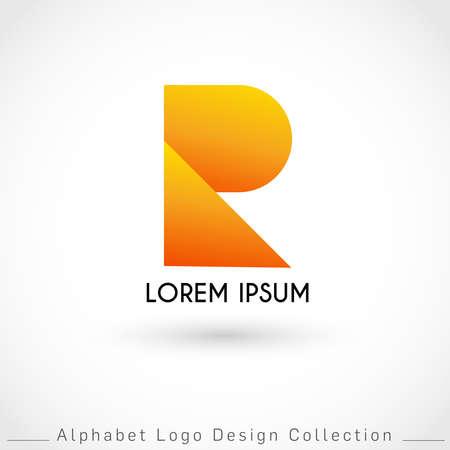 Letter R Logo Design Template isolated on white background : Vector IllustrationLetter W Logo Design Template isolated on white background : Vector Illustration
