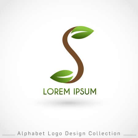 Letter S Logo Design Template isolated on white background : Vector Illustration Иллюстрация