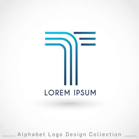 Letter T Logo Design Template isolated on white background : Vector Illustration Иллюстрация