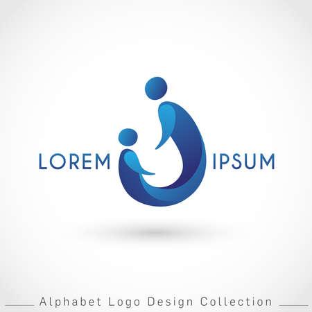 Letter U Logo Design Template isolated on white background : Vector Illustration