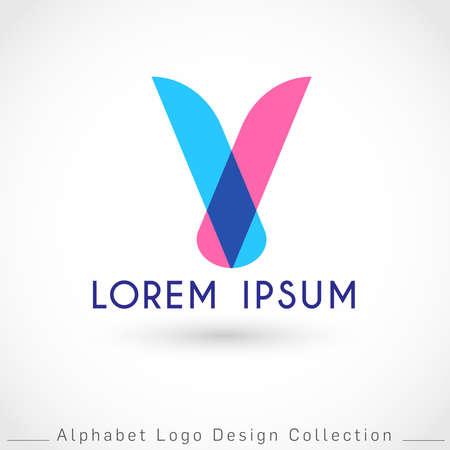 Letter V Logo Design Template isolated on white background : Vector Illustration