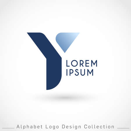 Letter Y Logo Design Template isolated on white background : Vector Illustration