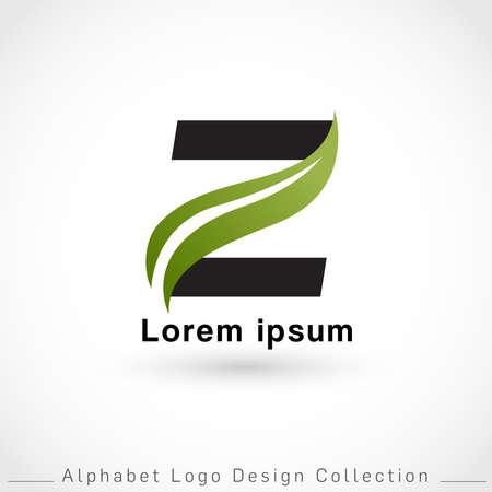 Letter Z Logo Design Template isolated on white background : Vector Illustration