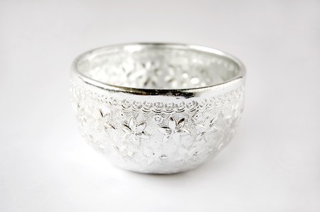 Silver water dipper in Thai style for Song-Kran Festival