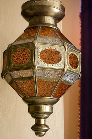 candle lamp in Moroccan style