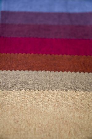Texture of fabric line in many shade. Stock Photo