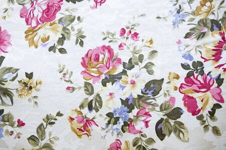patch: floral pattern print on fabric