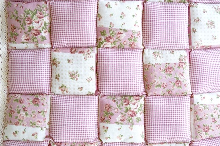 variety of pink floral patchwork