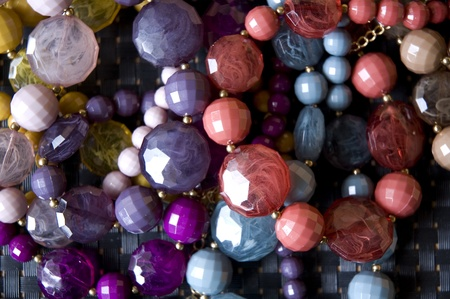 a lot of colorful bead accessories Stock Photo