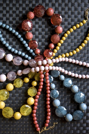 colorful bead necklace in flower shape