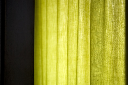 green curtain with natural window light background image Stock Photo - 10706574