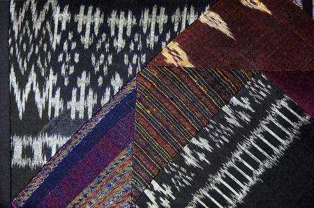 various kinds of native textile on thai silk Stock Photo - 10770827
