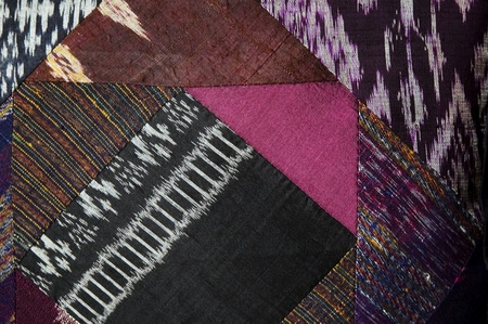 various colorful native textile made of thai silk Stock Photo - 10770824