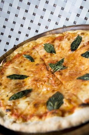tasty pizza Margherita on white background Stock Photo - 10936565