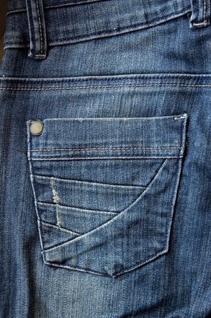 blue jeans pocket close up photo photo